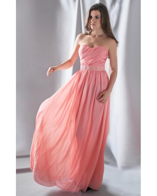 Вечернее персиковое платье купить в