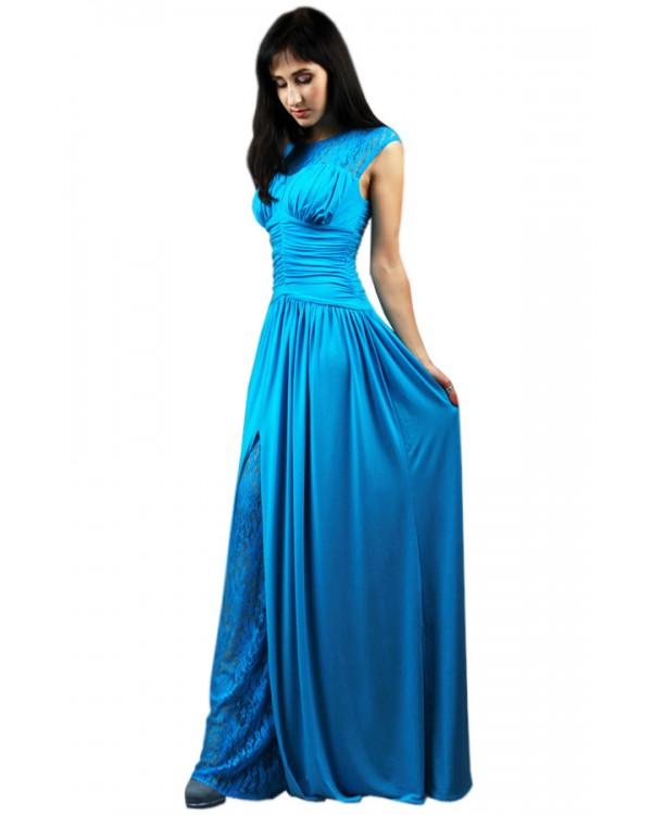 16930816b00 Вечернее голубое платье купить в интернет-магазине Роял-бутик ...