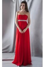Красное вечернее платье с камнями