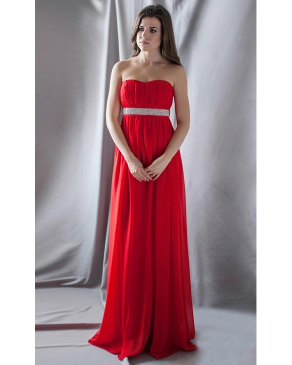 1730854cf788a49 Красное вечернее платье с камнями купить в интернет-магазине Роял ...