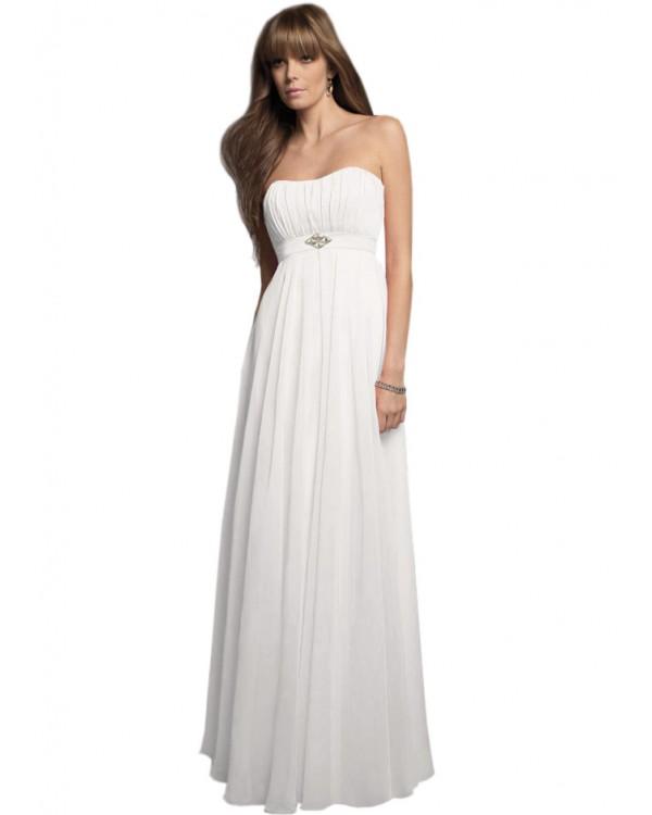 Платье белое в пол с бахрамой на шее