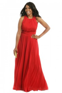 Греческое платье в пол для полных