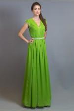 Длинное платье с рукавчиком-крылышком