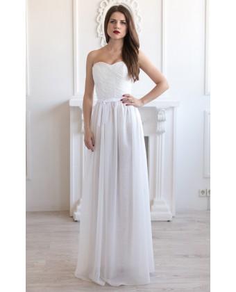 Платье на корсете с бантиком