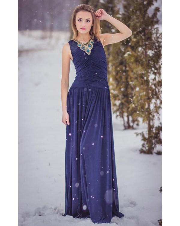 2f141a77408 Вечернее платье в пол с вышивкой бисером купить в интернет-магазине ...