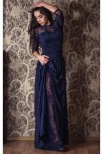 Платье с рукавом и кружевным подьюбником