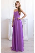Сиреневое выпускное платье