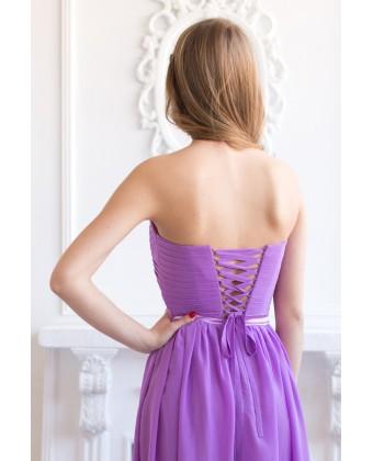 Корсетное платье с бантиком на поясе