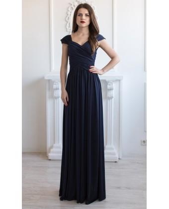 Вечернее трикотажное платье