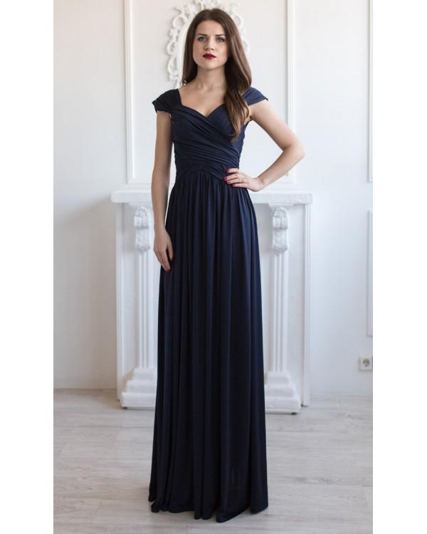 703e5966392 Вечернее трикотажное платье купить в интернет-магазине Роял-бутик ...