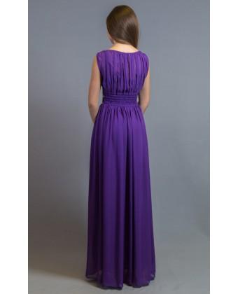 Вечернее платье с камушками по талии