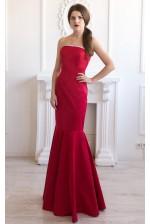 Вечернее платье годе красное