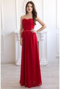 Платье на корсете с бантиком на поясе
