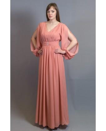 Вечернее платье, рукав с разрезом