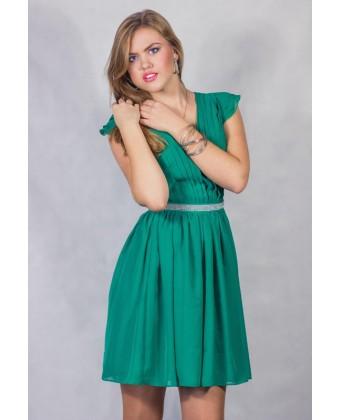 Коктейльное платье с рукавчиком крылышком