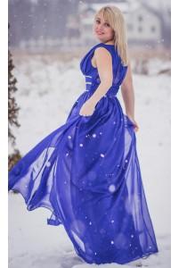 Длинное шифоновое платье большого размера