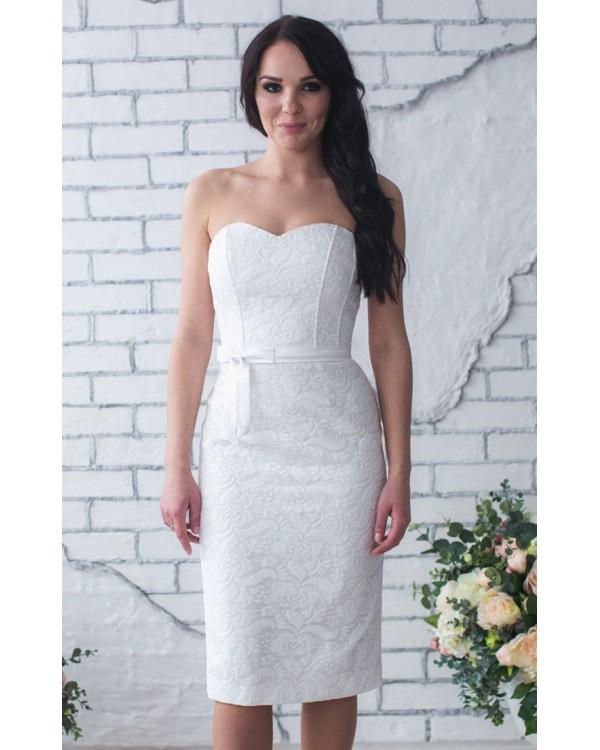 3e789ec18153f4 Белое платье футляр купить в интернет-магазине Роял-бутик ...