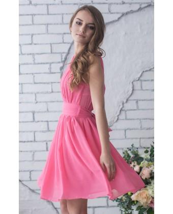 Коктейльное греческое шифоновое платье