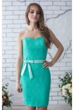 Коктейльное платье без бретелей