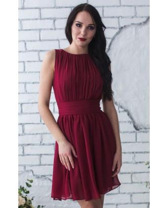 Коктейльное платье цвета марсала
