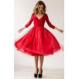 Коктейльное платье миди красное