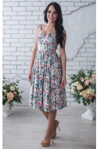 Летнее платье миди в цветочек