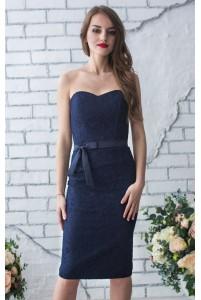 Платье вечернее короткое кружевное