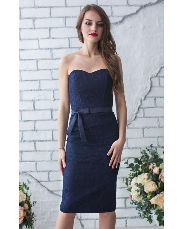d13481755ca034 Платье вечернее короткое кружевное купить в интернет-магазине Роял ...