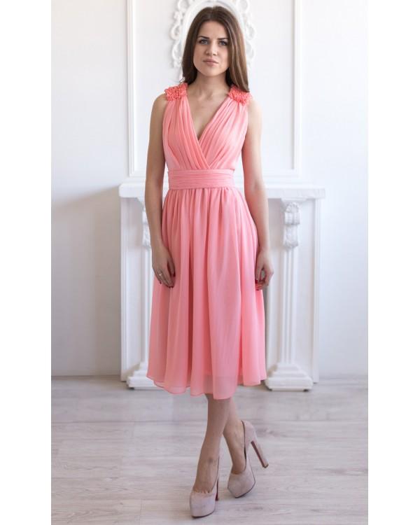 73552f554ed Шифоновое платье миди купить в интернет-магазине Роял-бутик ...