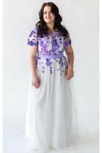 Платье с сиреневым верхом на корсете