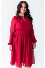 Коктейльное платье на большую грудь красное