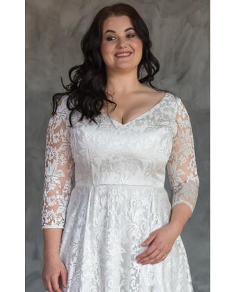 Красивое свадебное платье на большую грудь