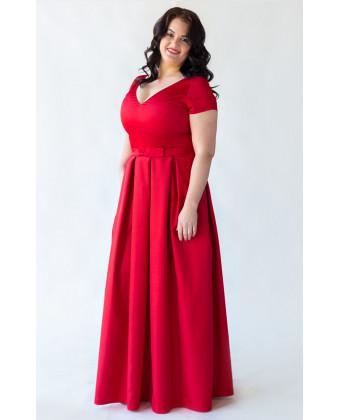 Красное вечернее платье на большую грудь