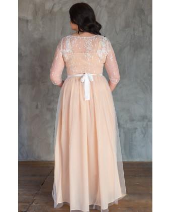 Необычное свадебное платье на большую грудь