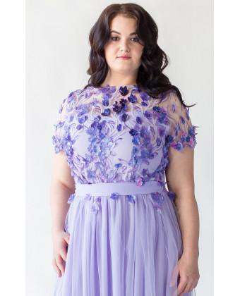Необычное вечернее платье на большую грудь