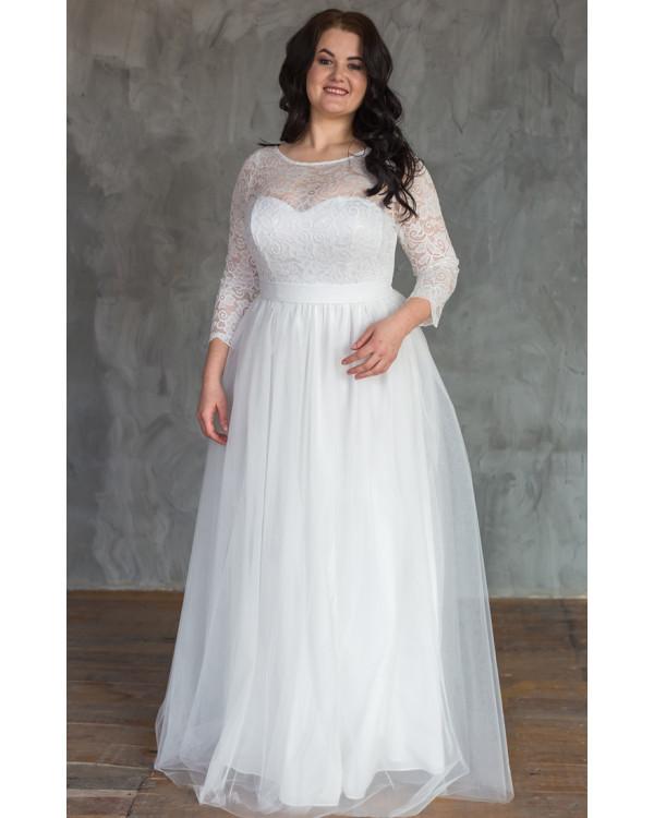 1777999c6d8 Свадебное платье с кружевными рукавами size+ купить в интернет ...