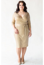 Золотое платье на большую грудь