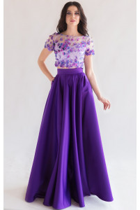 Атласная юбка солнце фиолет