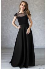 Длинная черная юбка в пол