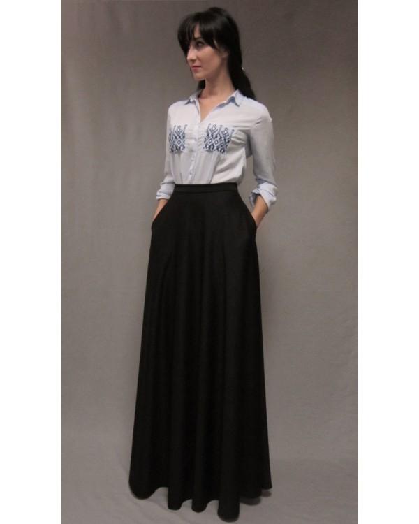 738540b865170 Длинная трикотажная юбка в пол с карманами купить в интернет ...