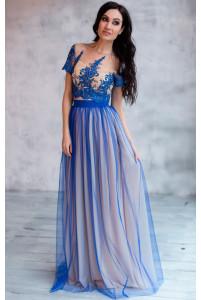 Длинная юбка с сеткой 3д