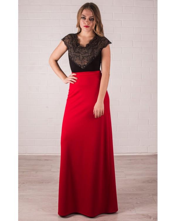 3d0fd0caad2 Длинная красная юбка купить в интернет-магазине Роял-бутик - Юбки с ...