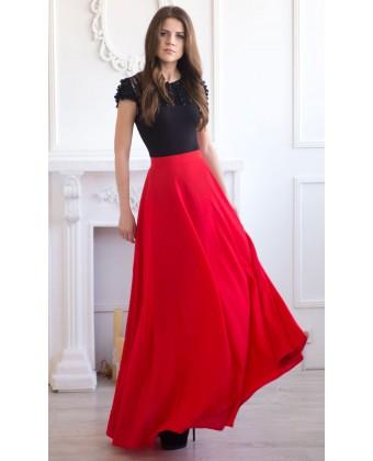 Легкая длинная юбка на лето