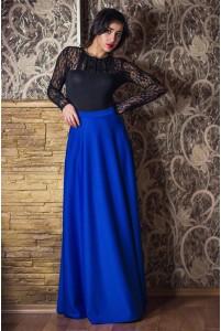 Длинная трикотажная макси юбка