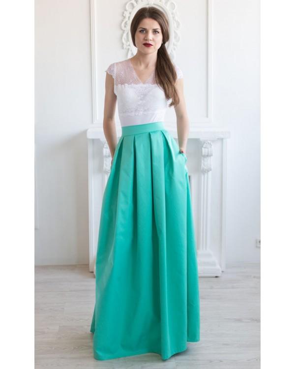 817a6a88b20 Длинная котоновая юбка с карманами купить в интернет-магазине Роял ...