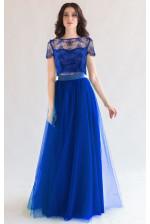 Пышная синяя юбка солнце