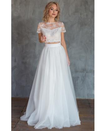 Пышная свадебная юбка солнце