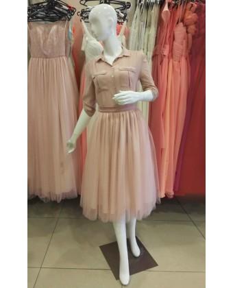 Пышная юбка миди