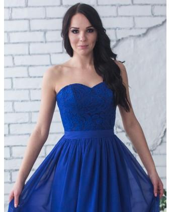Длинное выпускное платье с корсетом