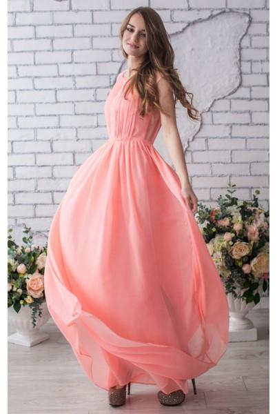 115fb0676d4 Выпускные платья - Длина  макси Цвет  персиковый купить - цена ...
